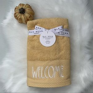 Rae Dunn WELCOME Hand Towels - Set of 2 NEW